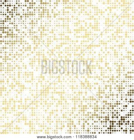 Golden dot abstract vector background. EPS 10.