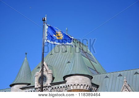 Quebec City Flag, Quebec City, Canada