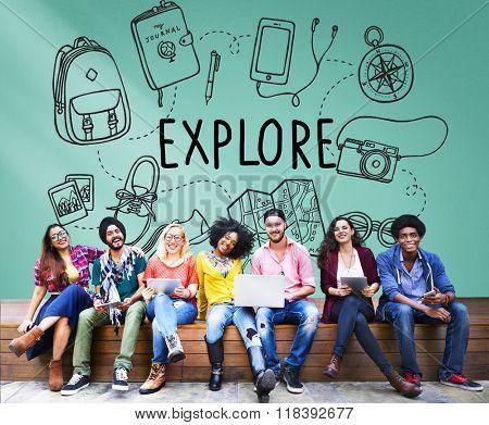 Explore Exploration Travel Journey Backpacker Concept