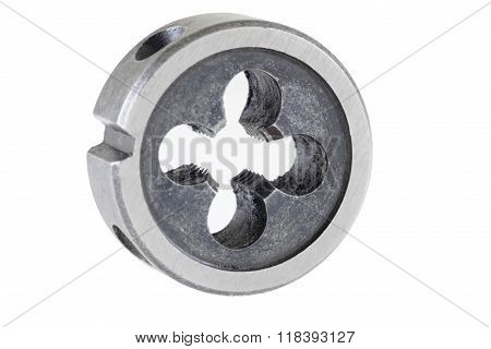 Thread Cutting Die On A White Background, Clipping Path