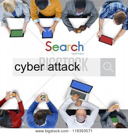 Cyber Attack Hack Virus Malware Concept