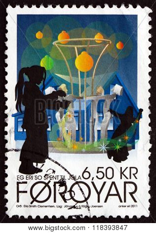 Postage Stamp Faroe Islands 2011 Christmas Carols