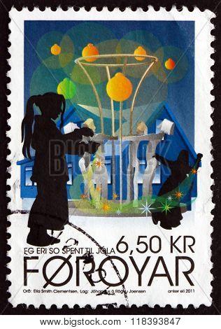 Postage Stamp Faroe Islands 2011 Christmas Carols