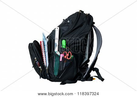 Backpack On White Background.