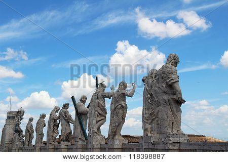 The Statues Of The Saints Apostles. Vatican City, Rome, Italy