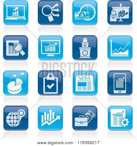 Business and Market analysis icons