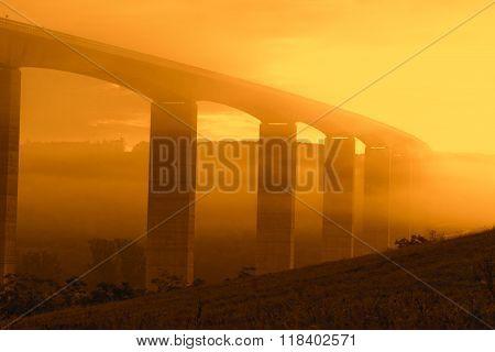 Viaduct At Sunrise