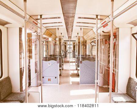 Train Interior Vintage