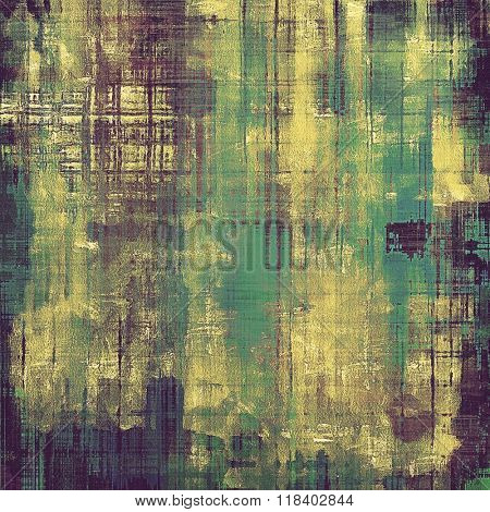 Designed background in grunge style. With different color patterns: yellow (beige); brown; green; blue; purple (violet)
