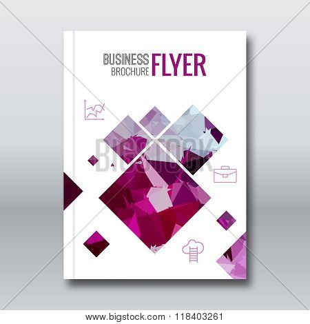 Cover colorful triangle geometric design background, cover flyer magazine, brochure book cover templ
