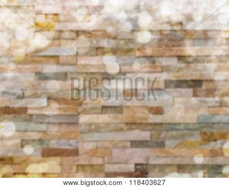 Brick Wall Blurred Background
