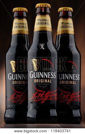 Three Bottles Of Guinness Beer