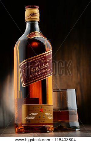 Bottle Of Johnnie Walker Scotch Whisky