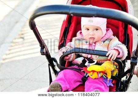 Baby Girl   In The Stroller