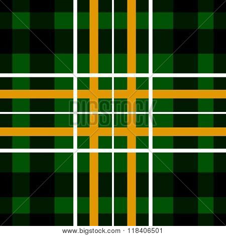 Saint Patrick's Day Squared Irish Kilt Seamless Background