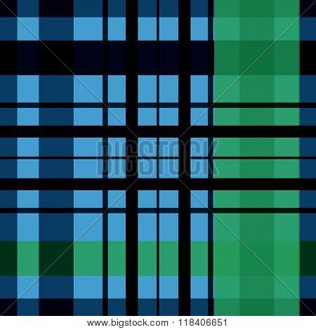 Saint Patrick's Day Squared Irish Kilt Seamless Background