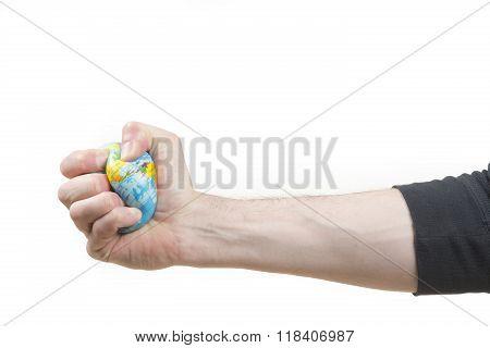 World globe stress ball showing the Americas