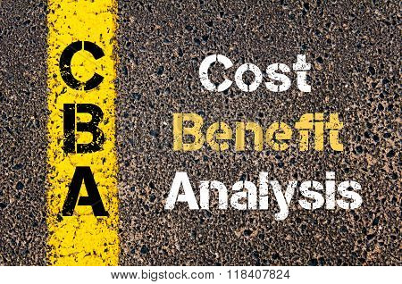 Business Acronym Cba Cost Benefit Analysis