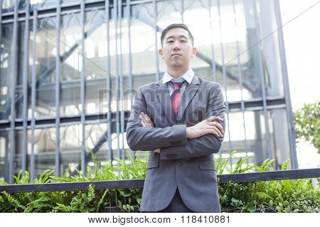 Ambitious Asian Business Person Standing