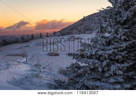 Winter Sunrise Along The Appalachian Trail