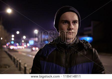 Teenager In Urban Environment