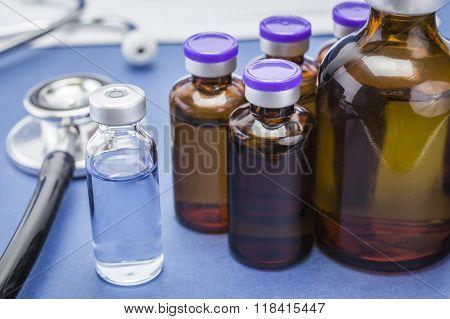 Flasks Vacuum In Scientific Laboratory
