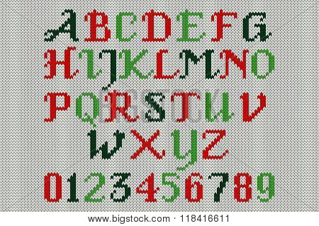 Vintage Knitted Alphabet