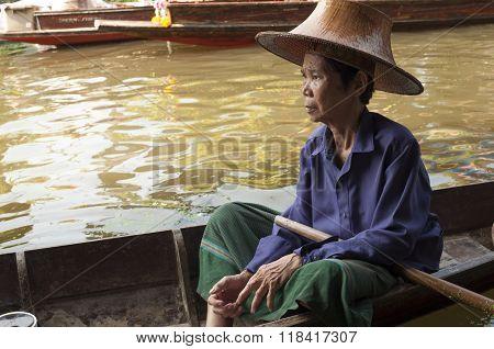 Floating Market Woman