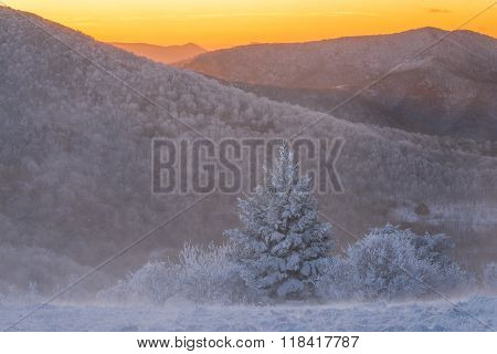 Roan Winter Sunrise Hike