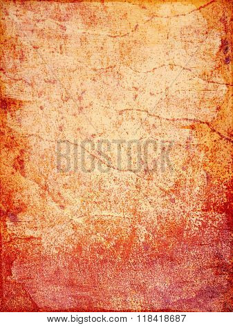 Red And Orange Rusty Metal Background