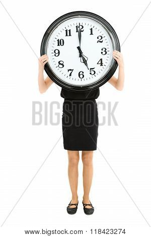 Woman Showing The Time