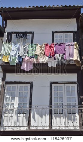 Clothes Hanging On House