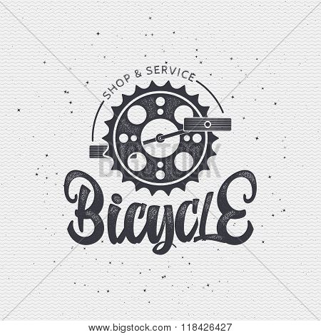 Bicycle badge insignia for any use such as signage design corporate identity, prints on apparel, sta