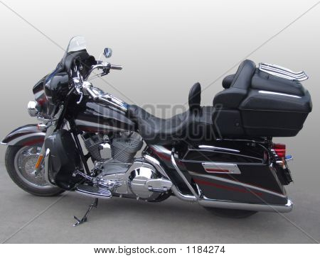The Big, Powerful, New, Black Motorcycle.
