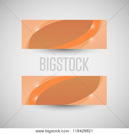 Abstract Business Banner Orange Wave Background