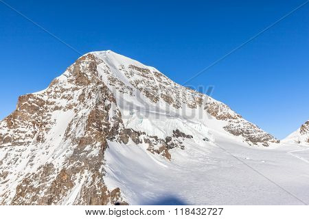 Close View Of Monch From Jungfraujoch