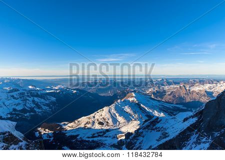 Panorama View Of Bernese Alps From Jungfraujoch