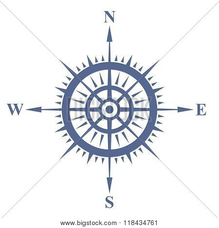 Vector Nostalgia Naval Compass Illustration