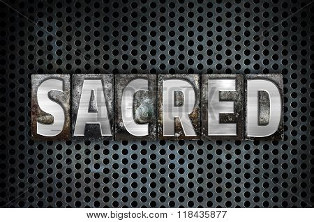 Sacred Concept Metal Letterpress Type