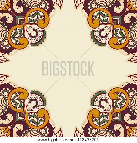 vector template with abstract ethnic pattern1