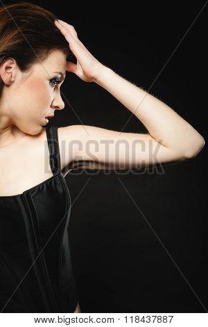 Subculture Beauty Punk Girl Portrait