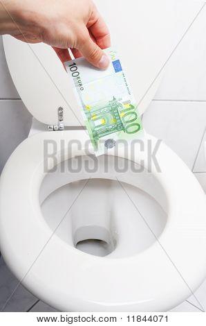 Money And Toilet