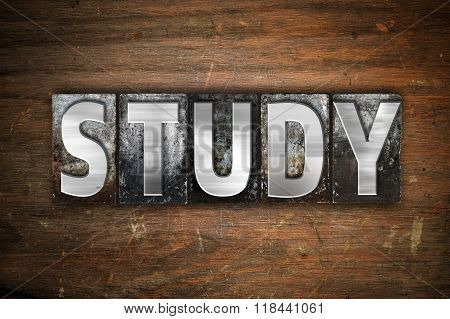 Study Concept Metal Letterpress Type