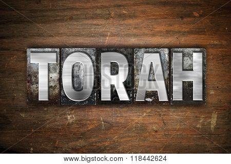 Torah Concept Metal Letterpress Type