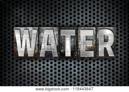 Water Concept Metal Letterpress Type