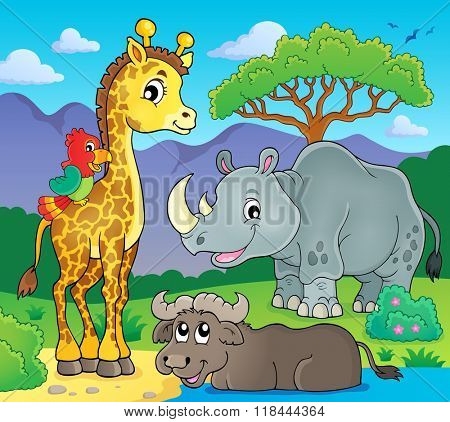 African fauna theme image 2 - eps10 vector illustration.
