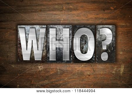 Who Concept Metal Letterpress Type
