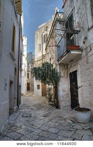 Alleyway. Conversano. Apulia.