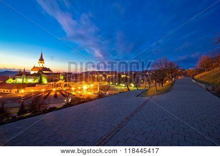Marija Bistrica Shrine And Calvary Night View