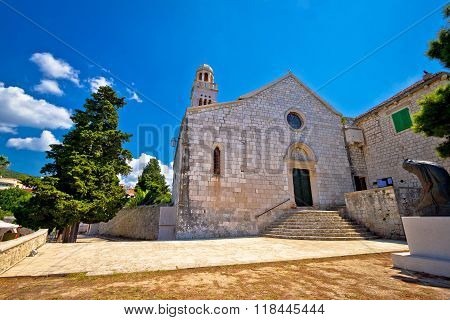 Island Of Hvar Historic Stone Church
